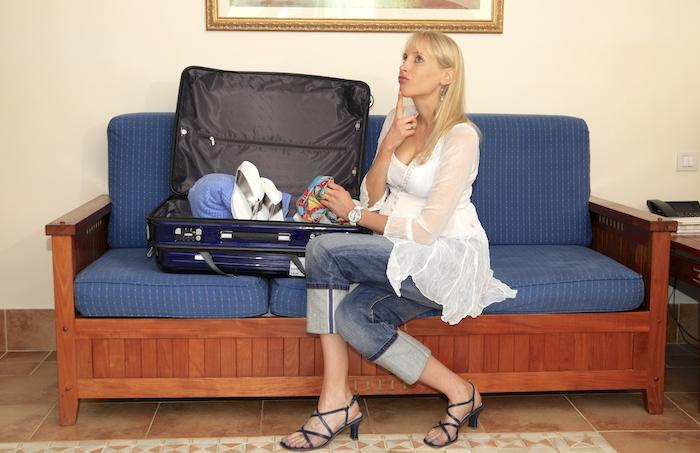 Liste zum Koffer packen