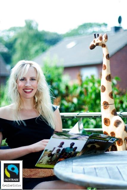Elischeba Wilde - Fotoshooting für Fairtrade Cotton