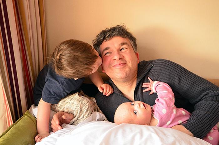 Pierre mit beiden Kids