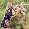 Elischeba im Dinosaurierpark Teufelsschlucht