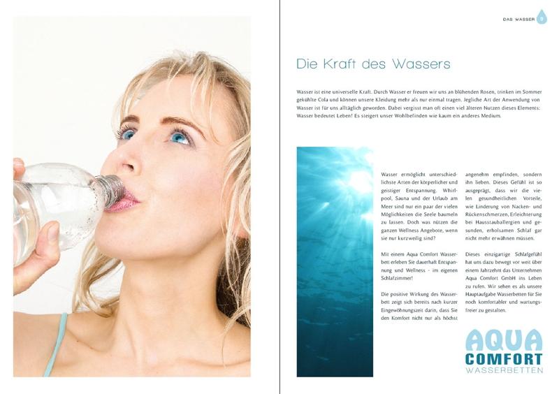 Elischebas Katalog Shooting für Aqua Comfort Wasserbetten