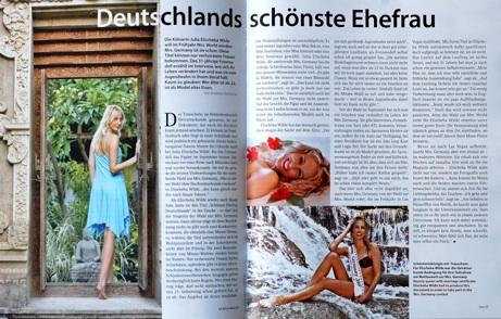 Elischeba Deutschlands schönste Ehefrau Artikel im Air Berlin Bordmagazin