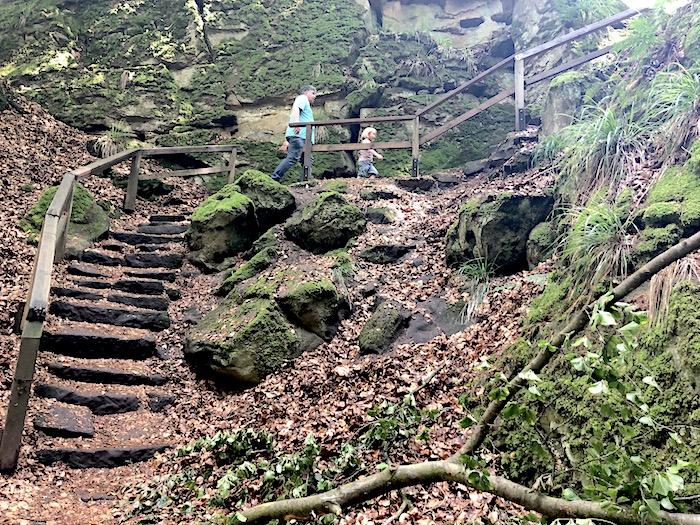 Teufelsschlucht Eifel - kurzer Weg