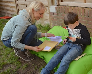 QSack von Univok für draußen - Frühling mit Kindern
