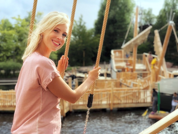 Segelschiff im Playmobilpark
