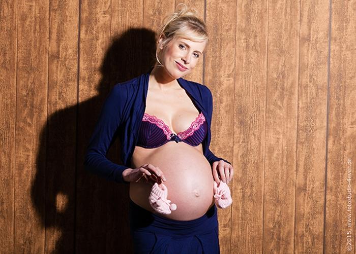 Elischeba Wilde mit Babybauch im Januar 2015
