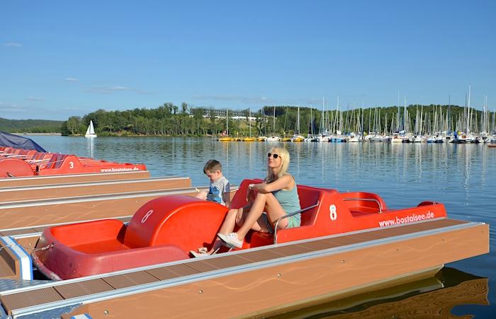 Bootsfahrt auf dem Bostalsee
