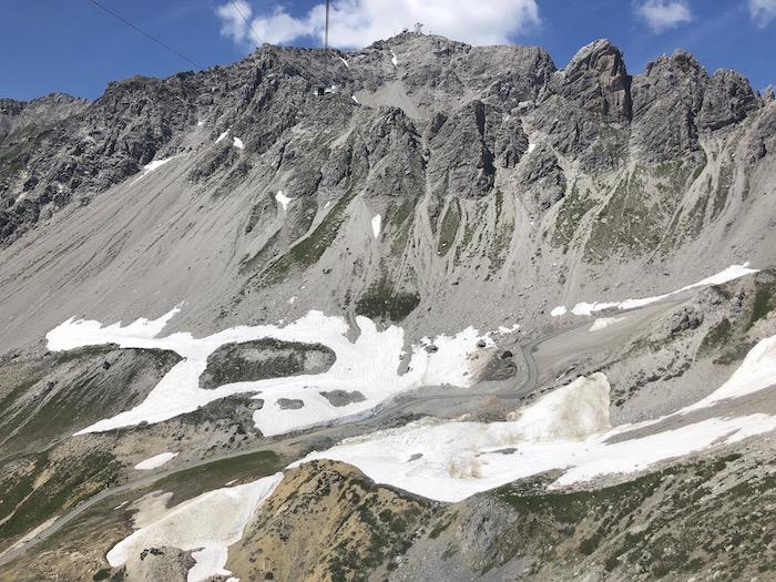 mit der Gondel auf die Velluga St. Anton am Arlberg