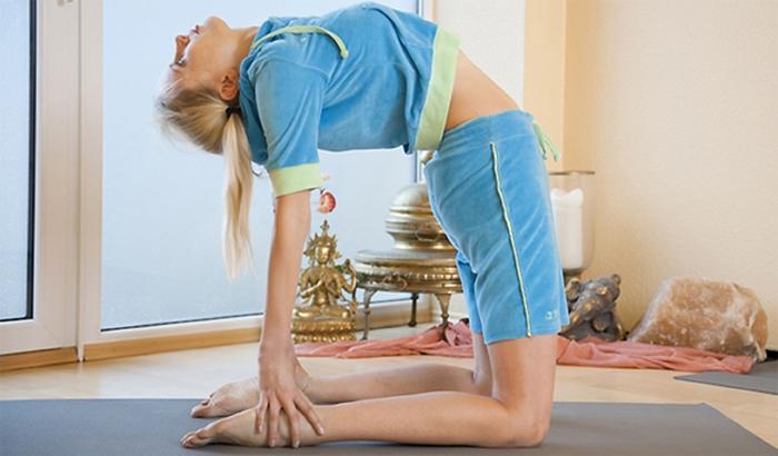 Rückwärtsbeuge beim Yoga