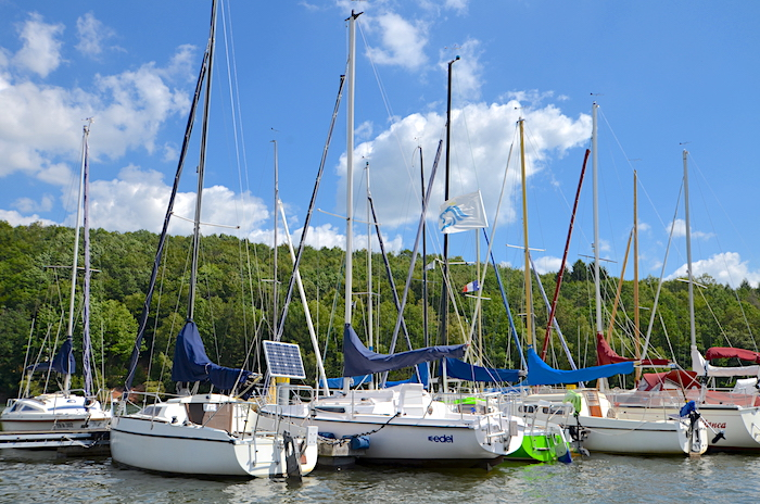 Segelschiffe im Saarland auf dem Bostalsee