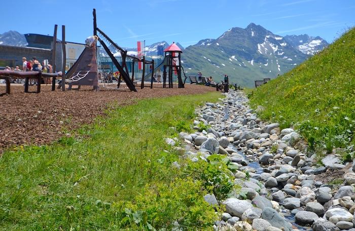 Spielplatz auf dem Berg Galzig
