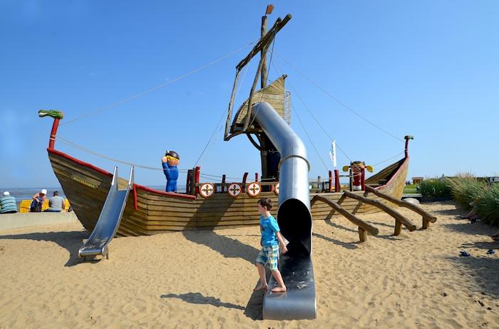 Spielplatz am Strand von Cuxhaven