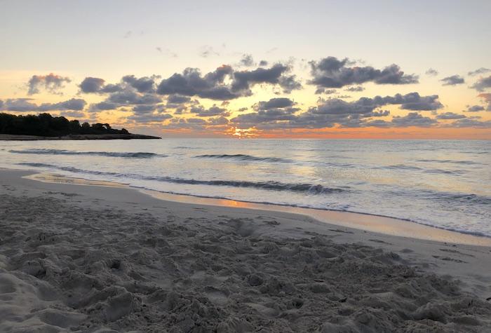 Mallorca Urlaub - Sonnenuntergang am Strand