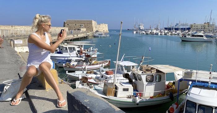 Elischeba im Hafen von Heraklion