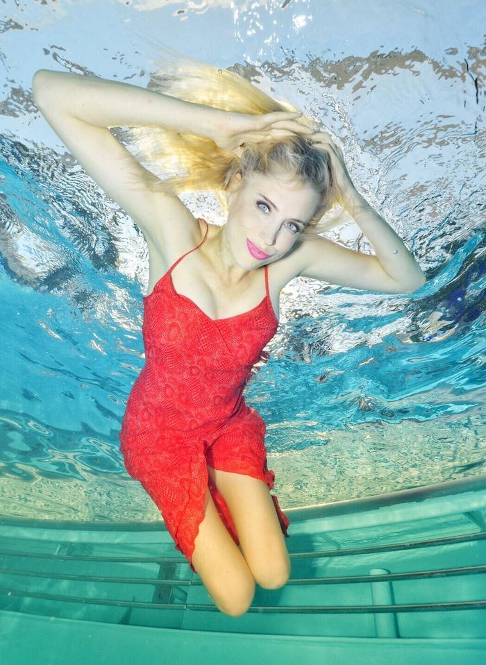 Elischeba Wilde - Unterwasser Shooting auf AIDAprima