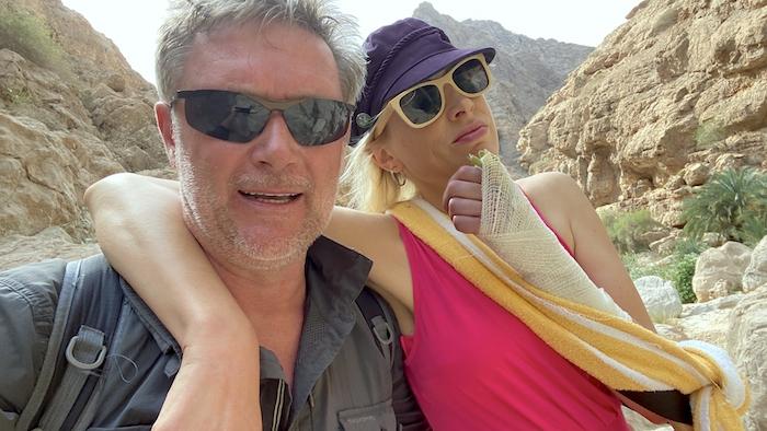 Elischeba Wilde - Verletzung im Wadi Shab