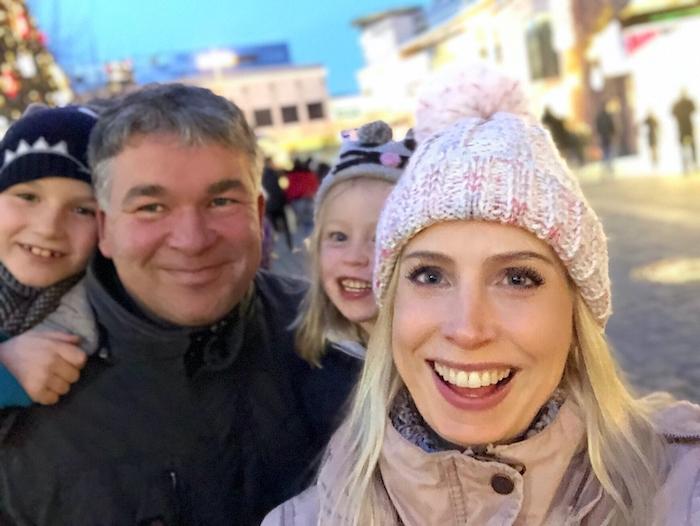 Familienselfie mit Bloggerin Elischeba Wilde