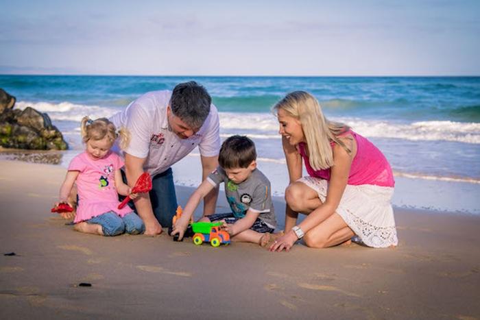 Family Wilde am Strand auf Fuerteventura