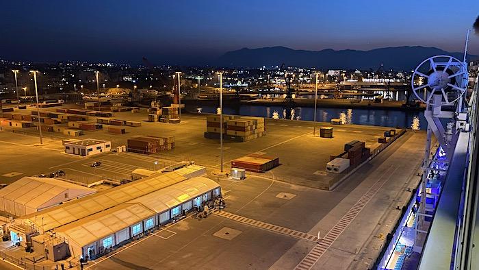 Der Hafen von Heraklion bei Nacht