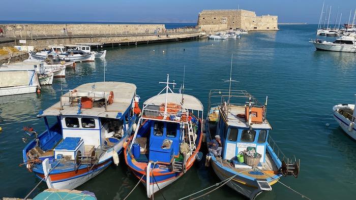 Hafen von Heraklion mit Festung