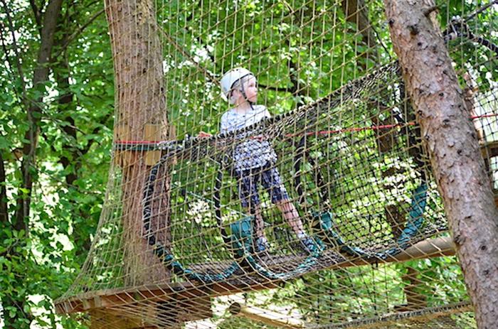Klettern für Kinder im Center Parc