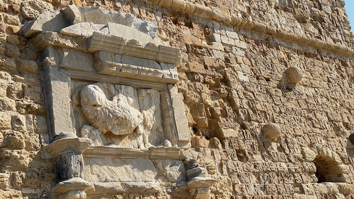 Festungsmauer in Heraklion - venezianischer Löwe