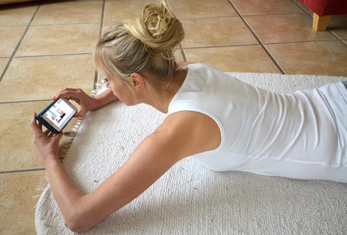 Model und Mama Sport App