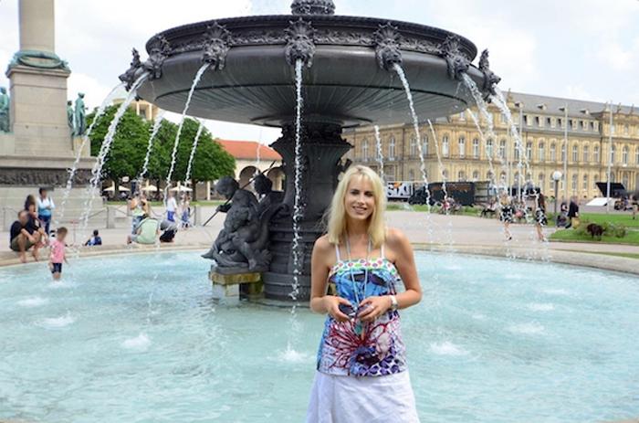 Elischeba Wilde - Stuttgart City - Springbrunnen am Schlossplatz