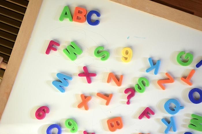 Tafel mit Buchstaben