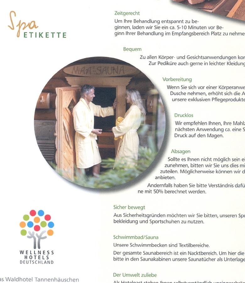 Elischeba Wilde - Wellness Shooting für das Waldhotel Tannenhäuschen in Wesel