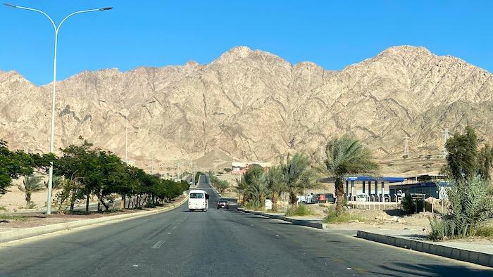 Taxifahrt in Aqaba Jordanien