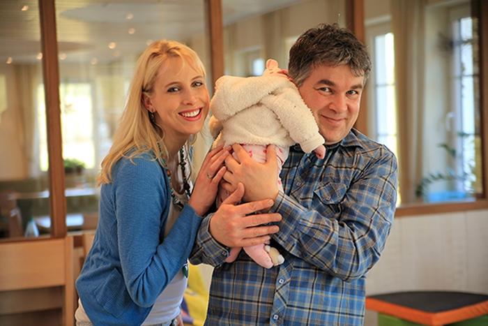 frische Eltern Elischeba und Pierre Wilde
