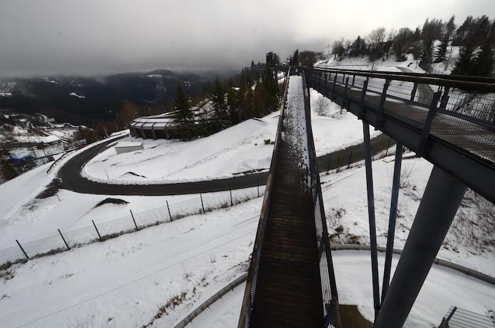 Erlebnisbrücke im Sauerland im Winter