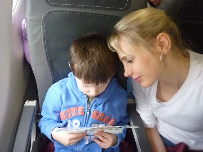 Elischeba Wilde - Selfie im Flugzeug