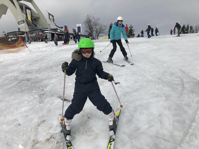 Skifahren unterhalb der St. Georg Sprungschanze