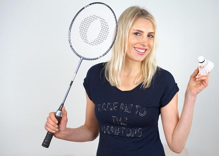 Elischeba Wilde - beim Federball spielen