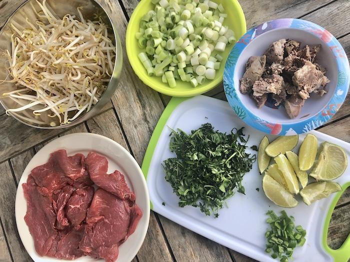 Zutaten für Pho Bo Hanoi
