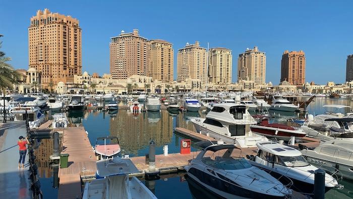 Hafen von Doha in Katar