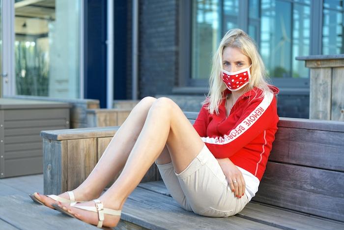 Elischeba Wilde - Shooting mit Maske wegen Corona