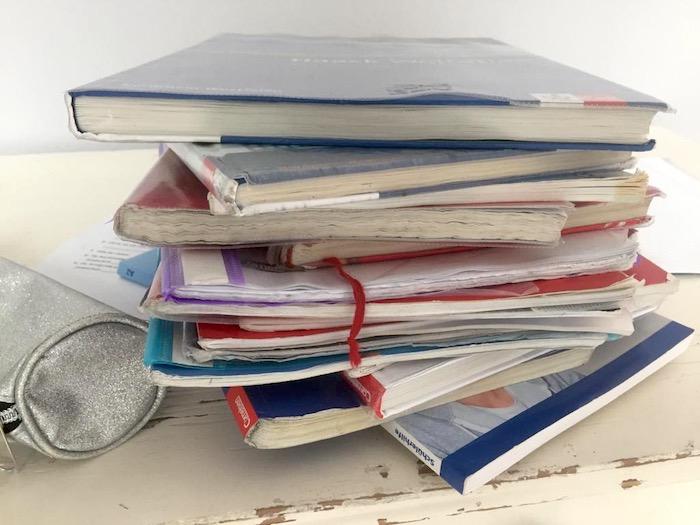 neunte Klasse Realschule - Bücher und Hefte
