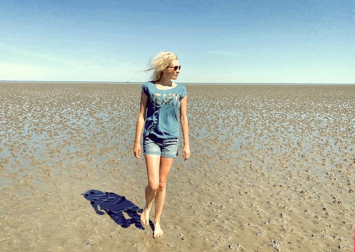 Elischeba Wilde - Spaziergang bei Ebbe in Cuxhaven