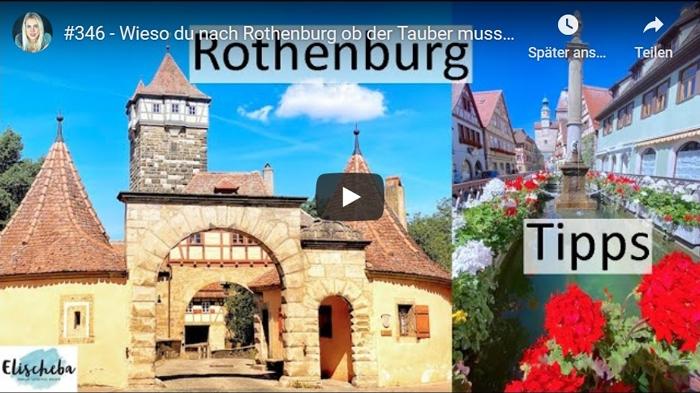 ElischebaTV_346 Urlaubstipps für Familien - Rothenburg ob der Tauber
