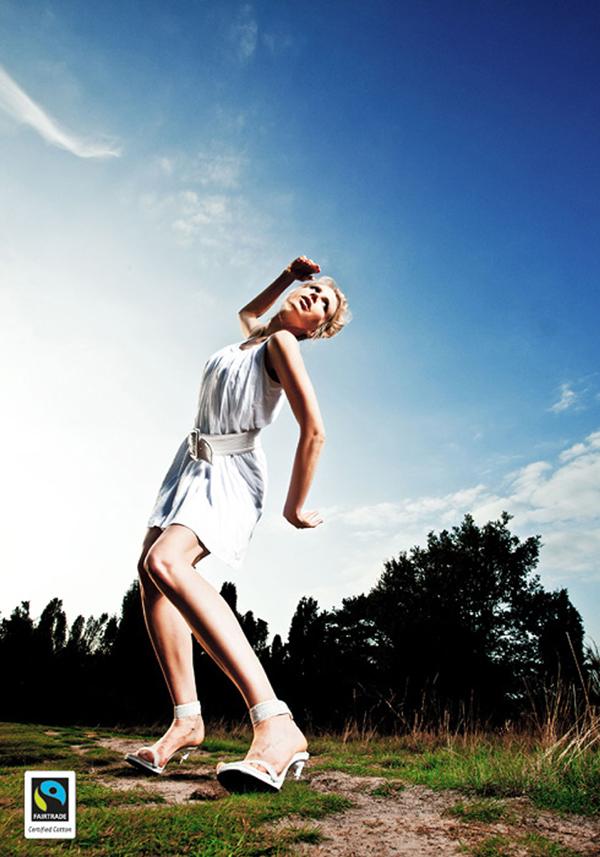 Model Elischeba Wilde für Fairtrade Cotton