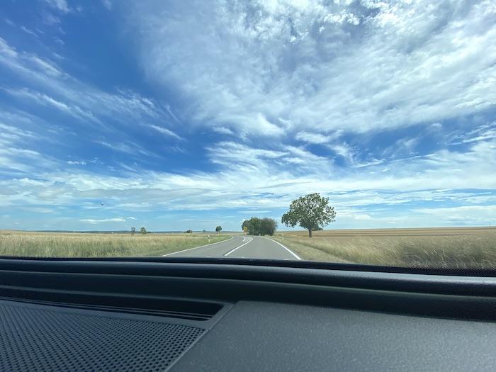 Autofahrt zum See ab Rothenburg ob der Tauber