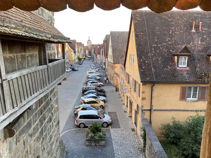 Blick auf Rothenburg ob der Tauber - Turmweg