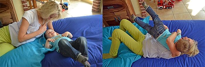 Sprungtest - Collage - Elischeba und Leon