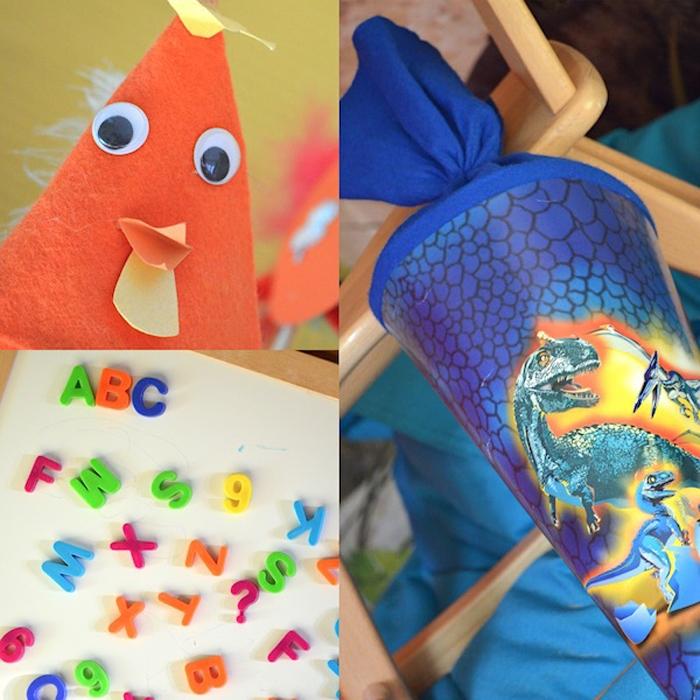 auf die Grundschule vorbereiten - Collage