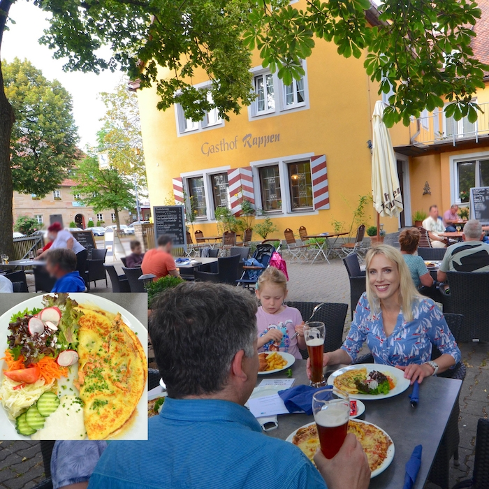Pfannkuchen im Biergarten - Hotel Rappen in Rothenburg ob der Tauber