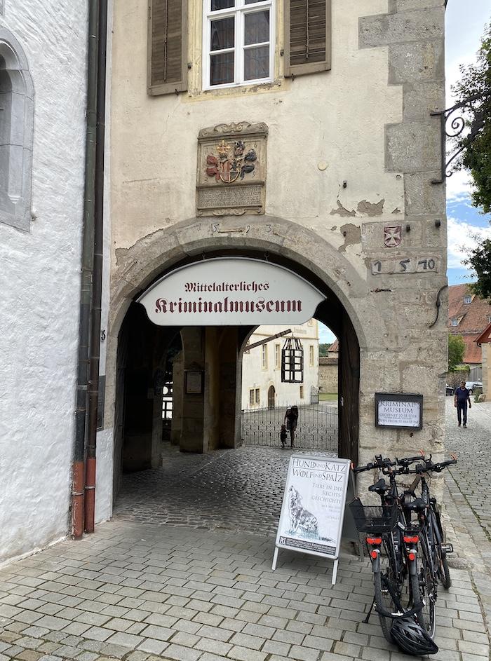 Mittelalterliches Kriminalmuseum in Rothenburg ob der Tauber
