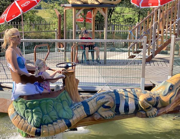 Krokodil im Familienland Pillerseetal